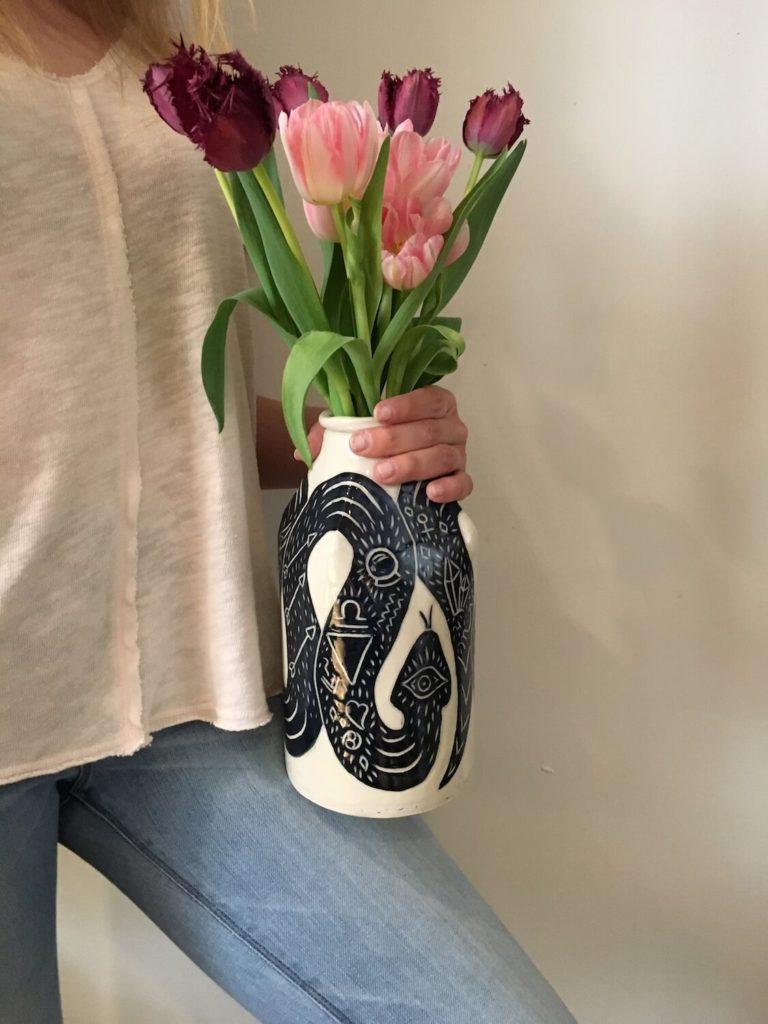 Burnt-thistle-ceramics-snake-jug